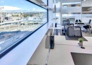 kontor med utsikt