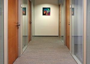 corridor with doors